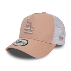 12040416_Casquette MLB Los Angeles Dodgers New Era League Essential Trucker Beige