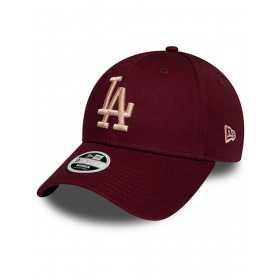 12040439_Casquette MLB Los Angeles Dodgers New Era League Essential 9Forty Marron pour Femme