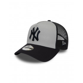 12040465_Casquette MLB New York Yankees New Era Aframe Trucker Gris pour Enfant