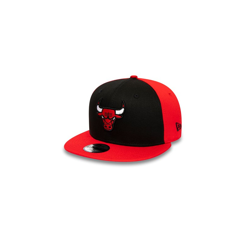 12040589_Casquette NBA Chicago Bulls New Era Character Front 9Fifty Rouge pour Enfant