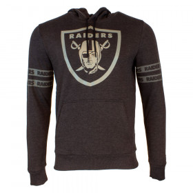 12033343_Sweat à Capuche NFL Oakland Raiders New Era Tonal Black Hoody Noir