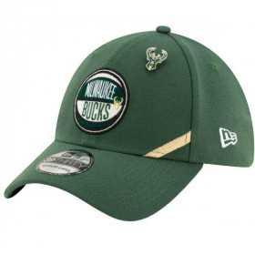 12041818_Casquette NBA Milwaukee Bucks New Era Draft 2019 Snapback 39Thirty Vert