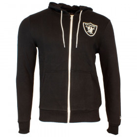 12033369_Veste à capuche Zippé NFL Oakland Raiders New Era Large Graphic Hoody Noir