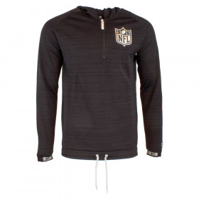12033394_Sweat à Capuche 3/4 Zip NFL New Era Engineered Hoody Noir
