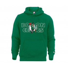12033468_Sweat à Capuche NBA Boston Celtics New Era Graphic Overlap Hoody Vert pour Homme