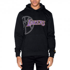 12033469_Sweat à Capuche NBA Los Angeles Lakers New Era Graphic Basketball Hoody Noir pour Homme