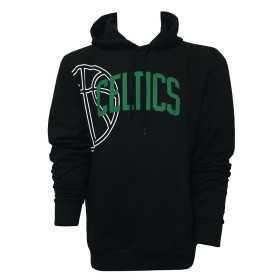12033471_Sweat à Capuche NBA Boston Celtics New Era Graphic Basketball Hoody Noir pour Homme
