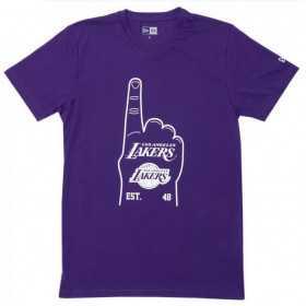 12033472_T-Shirt NBA Los Angeles Lakers New Era Foam hand Violet pour Homme