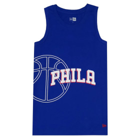12033476_Débardeur NBA Philadelphia 76ers New Era Basketball Graphic Bleu pour homme