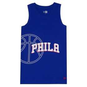 Estibador NBA Philadelphia 76ers New Era Basketball Graphic Azul para hombre