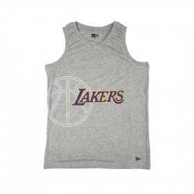 12033477_Débardeur NBA Los Angeles Lakers New Era Basketball Graphic Gris pour homme