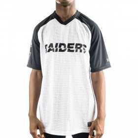 12033349_T-shirt NFL Oakland Raiders New Era Stripe Oversized Noir pour homme