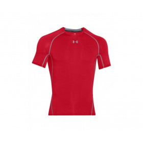 1257468-600 ///// T-shirt de compression Under Armour HeatGear Rouge pour homme