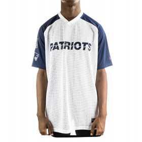 12033350_T-shirt NFL New england Patriots New Era Stripe Oversized Blanc pour homme