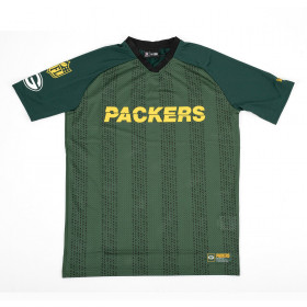 12033351_T-shirt NFL Greenbay Packers New Era Stripe Oversized Vert pour homme