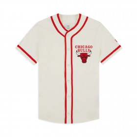 12033452_Maillot de baseball NBA Chicago Bulls New Era Piping Button Up Blanc pour Homme