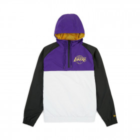 12033458_Coupe vent NBA Los Angeles Lakers New Era Hooded Violet pour Homme