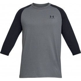 1329282-013_T-shirt 3/4 Under Armour Sportstyle Left Chest Gris pour Homme