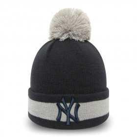 12040583_Bonnet MLB New York Yankees New Era Character Stripe Noir pour enfant