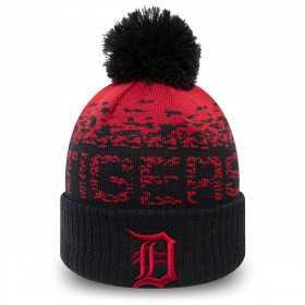 12061639_Bonnet MLB Detroit Tigers à pompon New Era Sport Knit Noir pour Enfant