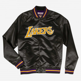 STJKMG1013-LALBLCK1-S_Veste NBA Los Angeles Lakers Mitchell & Ness Lightweight satin Noir our Homme