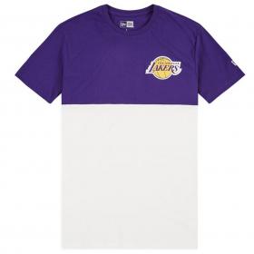 12061861_T-Shirt NBA Los Angeles Lakers New Era Colour Block Violet pour homme