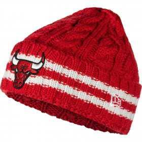 12040212_Bonnet NBA Chicago Bulls New Era Team Stripe Rouge