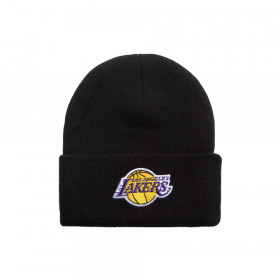MN-HWC-INTL534-LALAKE_Bonnet NBA Los Angeles Lakers Mitchell & Ness Team logo Cuff Noir