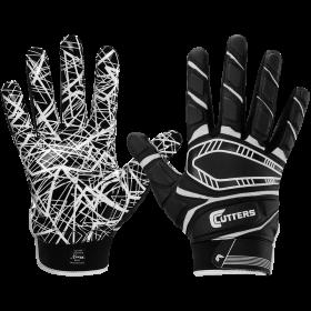 S750-BLK-Y_Gant de Football américain Cutters S750 Game Day Padded Noir pour enfant