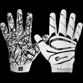 S750-WHT-Y_Gant de Football américain Cutters S750 Game Day Padded Blanc pour enfant