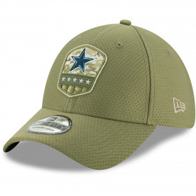 12113452_Casquette NFL Dallas Cowboys New Era 39Thirty On Field 2019 Salute To Service vert