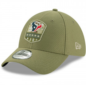 12113448_Casquette NFL Houston Texans New Era 39Thirty On Field 2019 Salute To Service vert