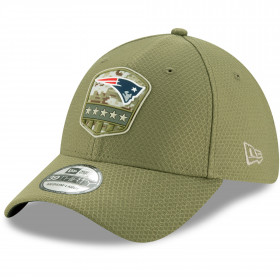 12113440_Casquette NFL New England Patriots New Era 39Thirty On Field 2019 Salute To Service vert