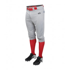 Pantalon De Baseball Rawlings Court Gris Pour Homme /// LNCHKPgris