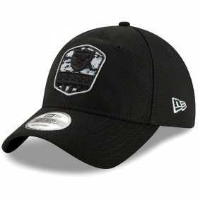 12114012_Casquette NFL Oakland Raiders New Era 9Twenty On Field 2019 Salute To Service Noir