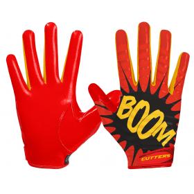 """S252-BOOM-13_Gant de football américain Cutters S252 Edition Limitée """"Boom"""" Rouge pour Enfant"""