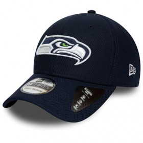 12134681_Casquette NFL Seattle SeaHawks New Era Team 39THIRTY Bleu marine