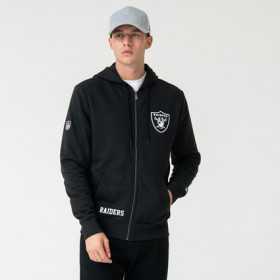 Veste Zippé NFL Oakland Raiders New Era Team Logo Noir pour homme ///// 12123818