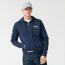Veste Zippé NFL  New England Patriots New Era Team Logo Navy pour homme /// 12123819