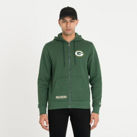 Veste Zippé NFL  Green Bay Packers New Era Team Logo Vert pour homme /// 12123820