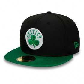 12134805_Casquette NBA Boston Celtics New Era Black Crown 59Fifty Noir