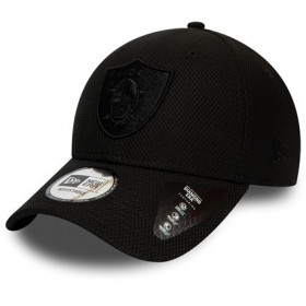 12134812_Casquette NFL Oakland Raiders New Era Mono Team Colour 9Forty Noir