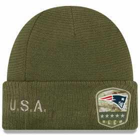 12113280_Bonnet NFL New England Patriots New Era On Field Salute to Service 2019 Vert