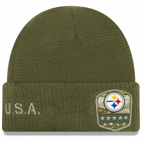 12113274_Bonnet NFL Pittsburgh Steelers New Era On Field Salute to Service 2019 Vert