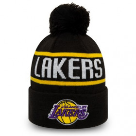 12134849_Bonnet NBA Los Angeles Lakers New Era Bobble Noir