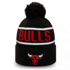 12134851_Bonnet NBA Chicago Bulls New Era Bobble Noir