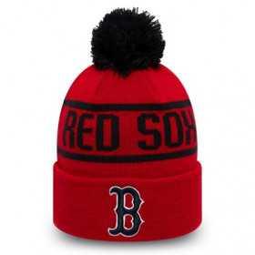 12134852_Bonnet MLB Boston Red Sox New Era Bobble Rouge