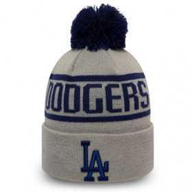 12145425_Bonnet MLB Los Angeles Dodgers New Era Bobble Gris pour Enfant