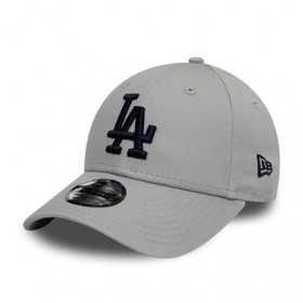 12145462_Casquette MLB Los Angeles Dodgers New Era League Essential 9Forty Gris pour enfant
