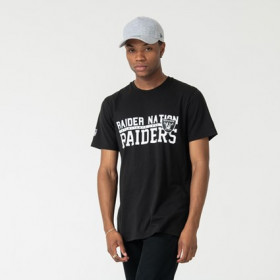 12123829_T-Shirt NFL Oakland Raiders New Era Stacked Wordmark Noir Pour Homme